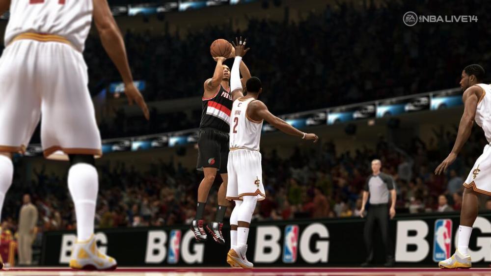 EA NBA Live 14 Screen