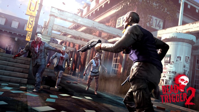 Warriors hunting zombies in the updated Dead Trigger 2