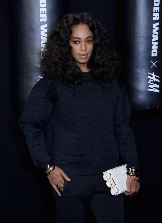 NEW YORK, NY - OCTOBER 16:  Musician Solange Knowles attends the Alexander Wang X H&M Launch on October 16, 2014 in New York City.  (Photo by Dimitrios Kambouris/Getty Images for H&M)