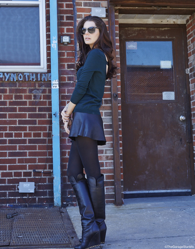 The_Garage_Starlets_Madlena_Kalinova_Leather_Skirt_Veda_Sandro_Chanel_Stella_McCartney_03