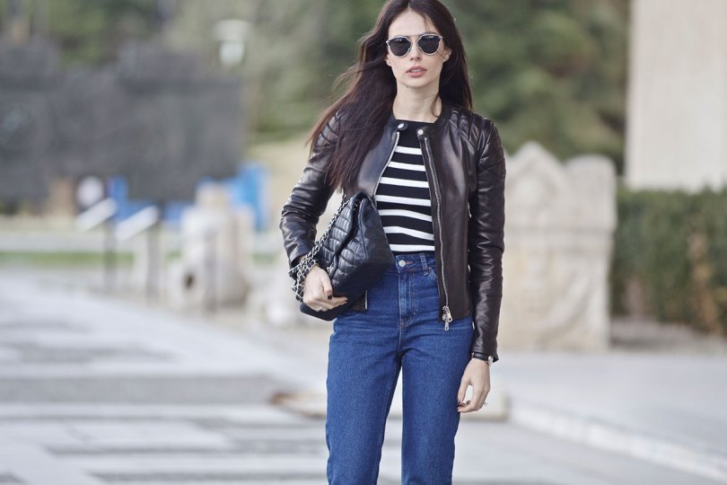The_Garage_Starlets_Katia_Peneva_Popov_Gucci_Biker_Jacket_Zara_Topshop_Mom_Jeans_Chanel_Bag_Saint_Laurent_Ankle_Boots_Christian_Dior_Sunnglasses_01