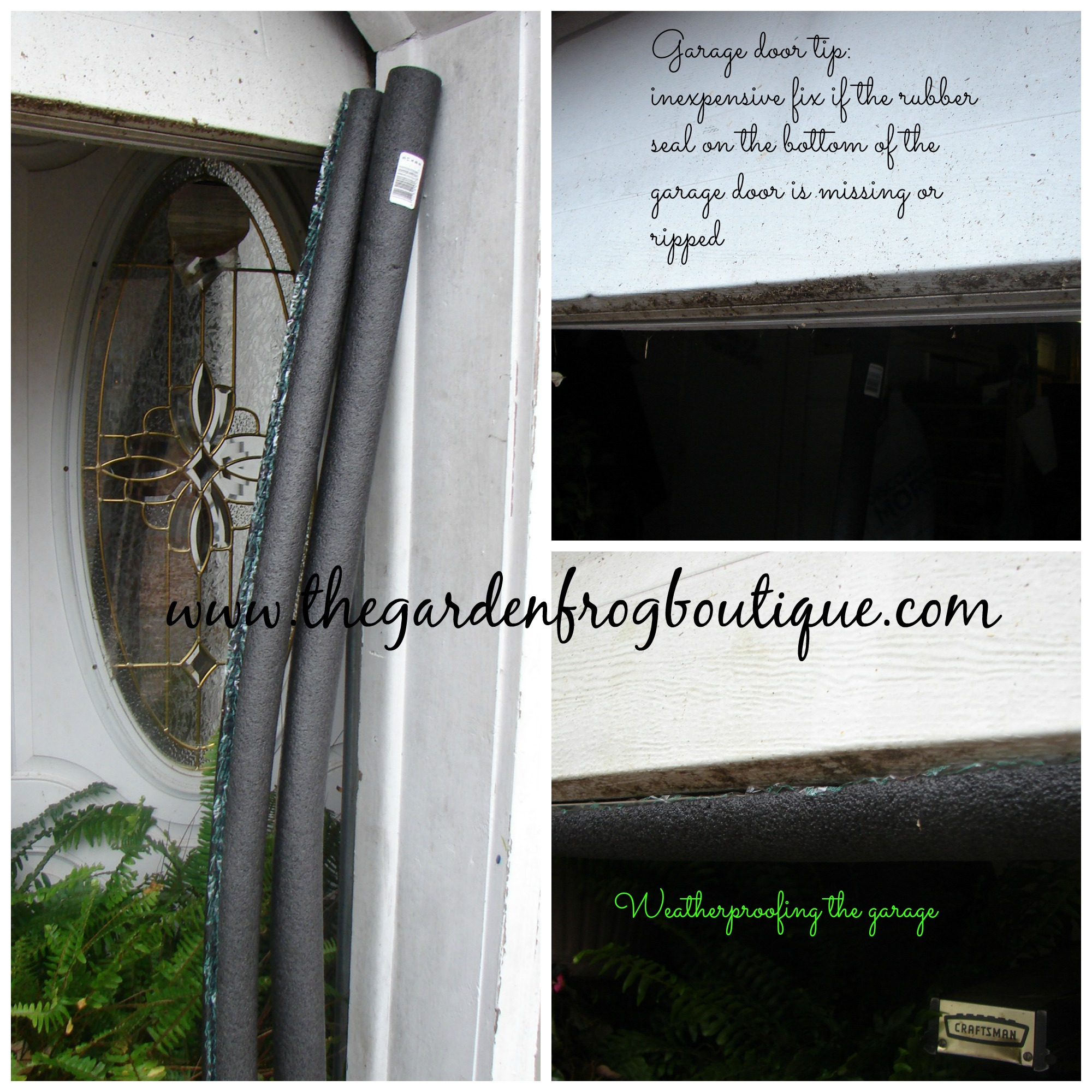 Garage Tip A Simple Fix For The Bottom Garage Door Seal The Garden Frog Boutique
