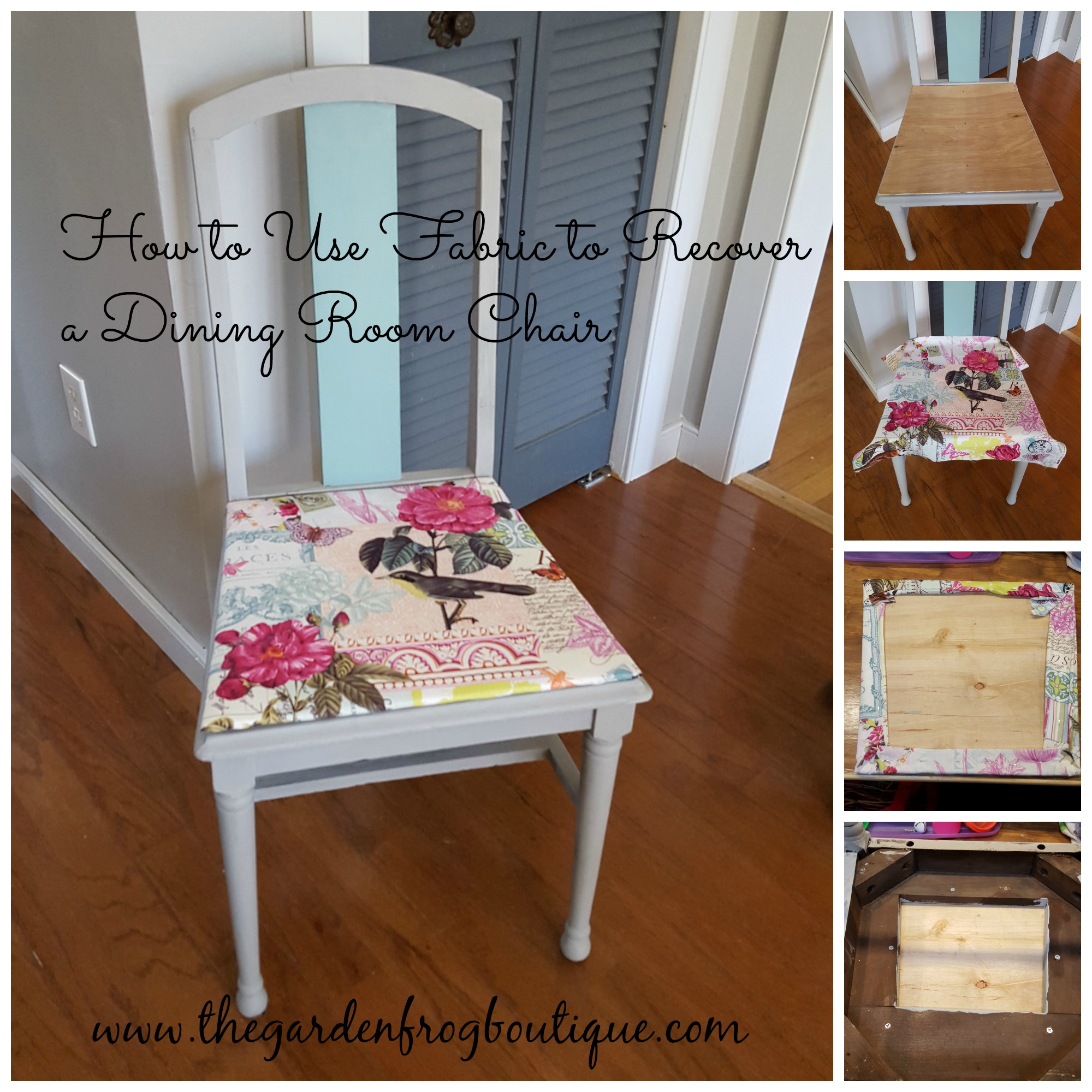 Dining Room Chair Fabric How To Use Fabric To Recover A Dining Room Chair The Garden Frog