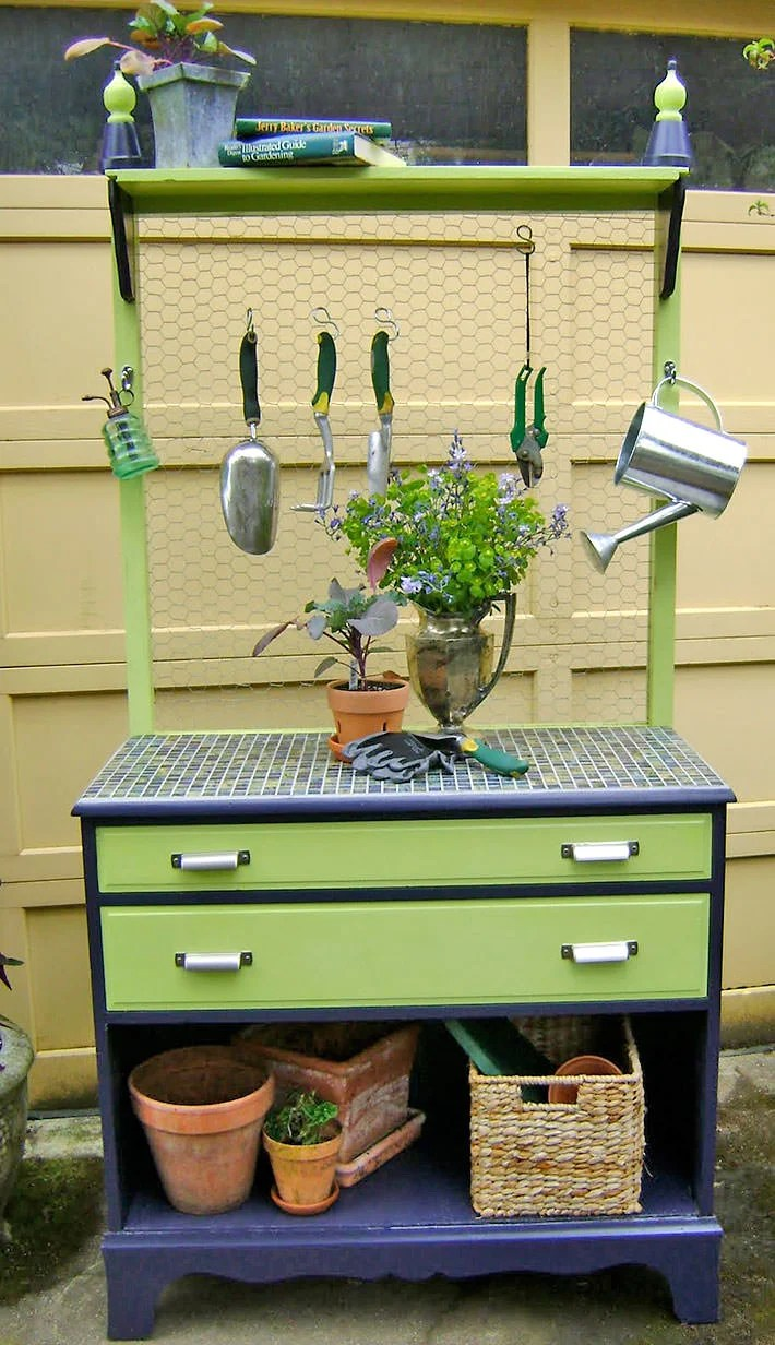 Planting Tables For Sale 18 Diy Potting Benches You Ll Want To Show Off The Garden Glove