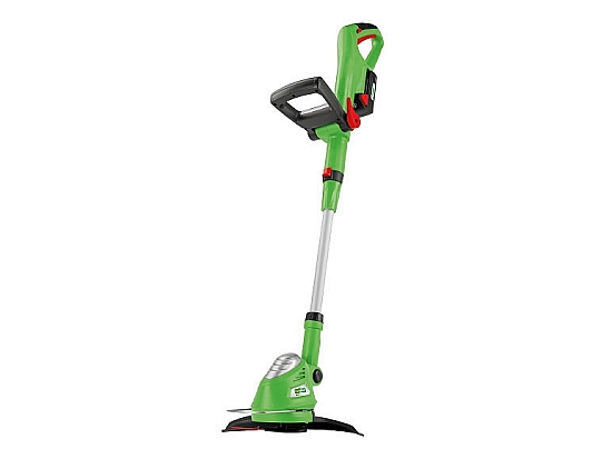 The garden tool shed florabest 18v li ion cordless grass for Aldi gardening tools 2015