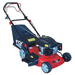 The garden tool shed fox 18 petrol lawn mower for Small lawnmower shed