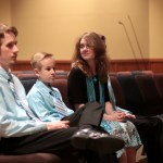 Ben, Caleb, and Leesha before Saturday night worship at Hosanna Lutheran, Mankato, MN