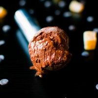Dark Chocolate and Crystallised Ginger Ice Cream