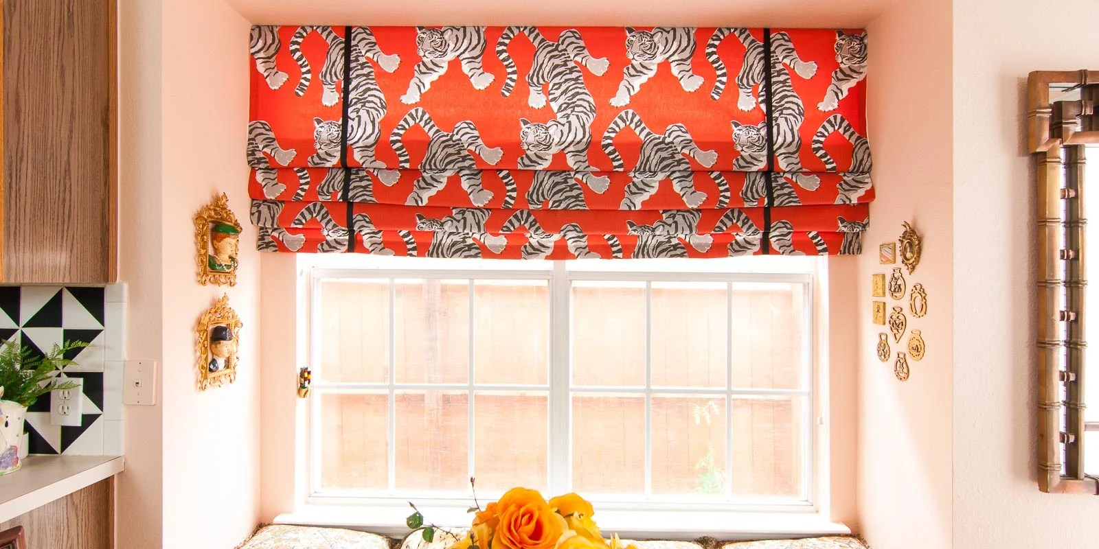 Diy Roman Shades Easy Diy Faux Roman Shade The Gathered Home