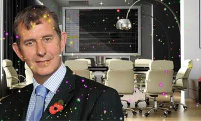 Edwin Poots Glitter Bombed
