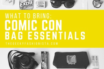 Comic Con Bag Essentials