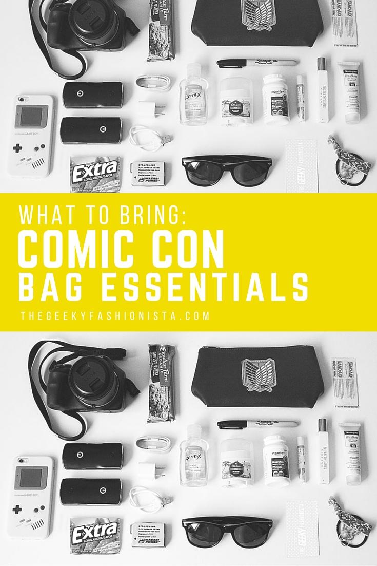 Comic Con Bag Essentials