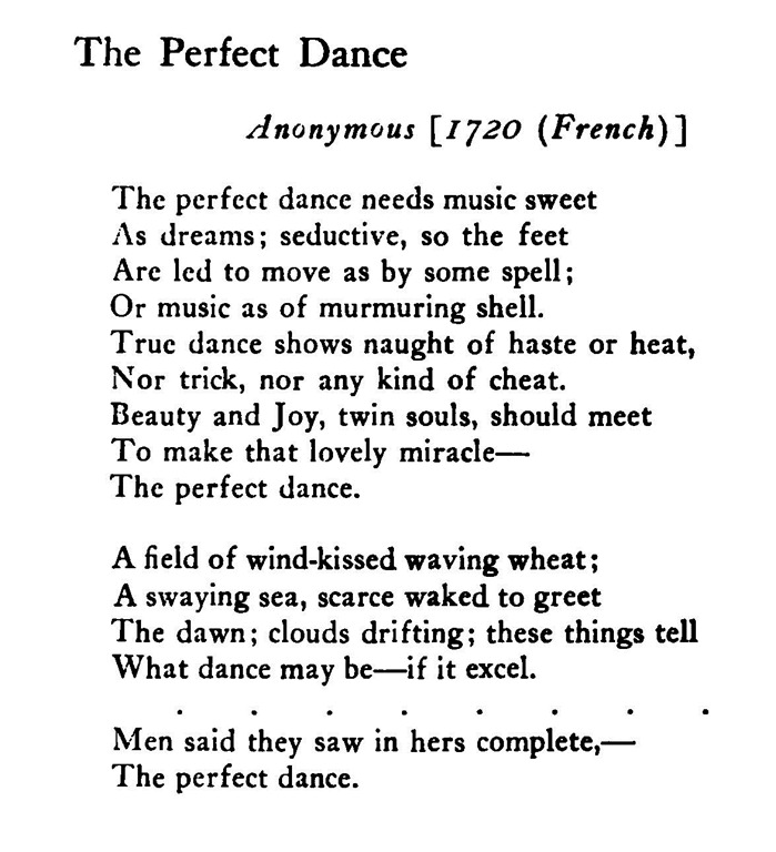 The Perfect Dance - Anonymous (1720, French)   - packing slip form