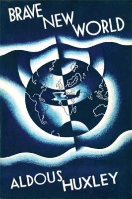 Brave New World book cover - Nabra Nelson - Aldous Huxley - utopia vs. dystopia
