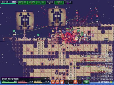 Pixel Piracy screenshot with battle - Quadro Delta - negative review - criticism