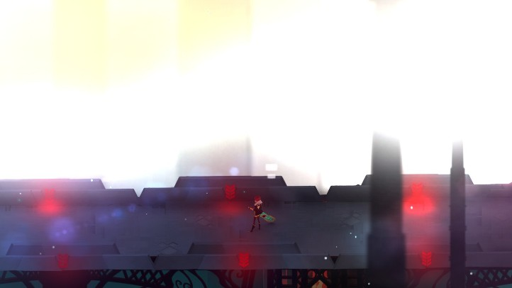 Transistor screenshot with Process and oblivion - analysis and criticism of Transistor's plot - story, narrative