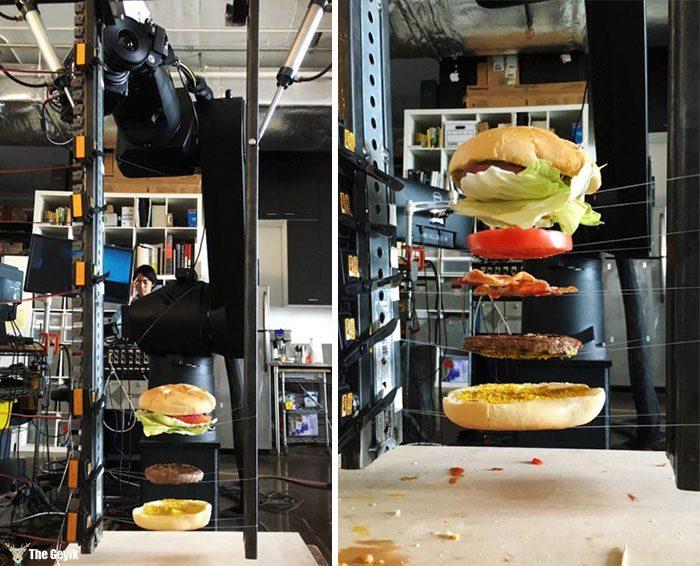 O ünlü burger sahnesi nasil cekiliyor3
