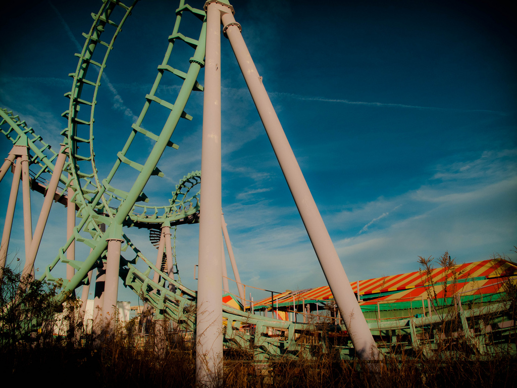 Six Flags Jazzland Abandoned The Ghosts Of Six Flags New Orleans Photos