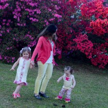 Pink and Yellow Family Outfits - What We Wore