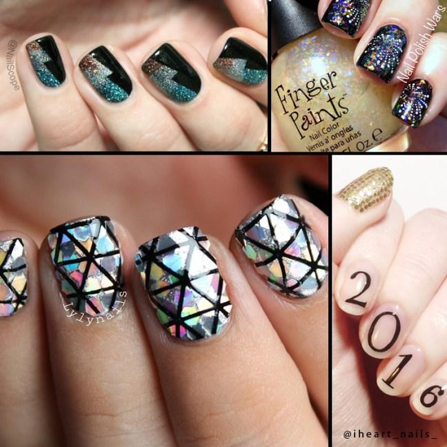 nail_polish_art_ideas_new_year_2016_instagram