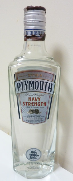 Plymouth Navy Strength Gin Bottle