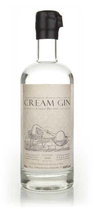 Cream Gin Bottle