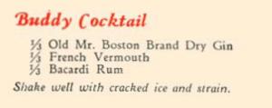 1934 Mr Boston - Buddy Cocktail