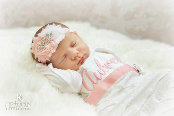 Infant Baby Girl Gifts Infant Baby Layette Personalized Newborn Girl Take Home