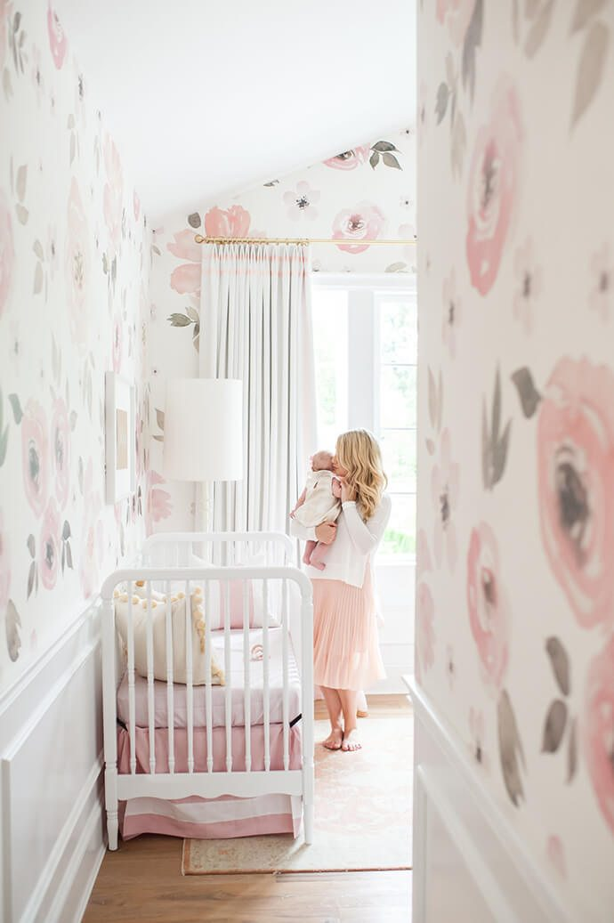 Wandtapete Kinderzimmer Touring Monika Hibbs's Oh-so Sweet Blush Pink Nursery