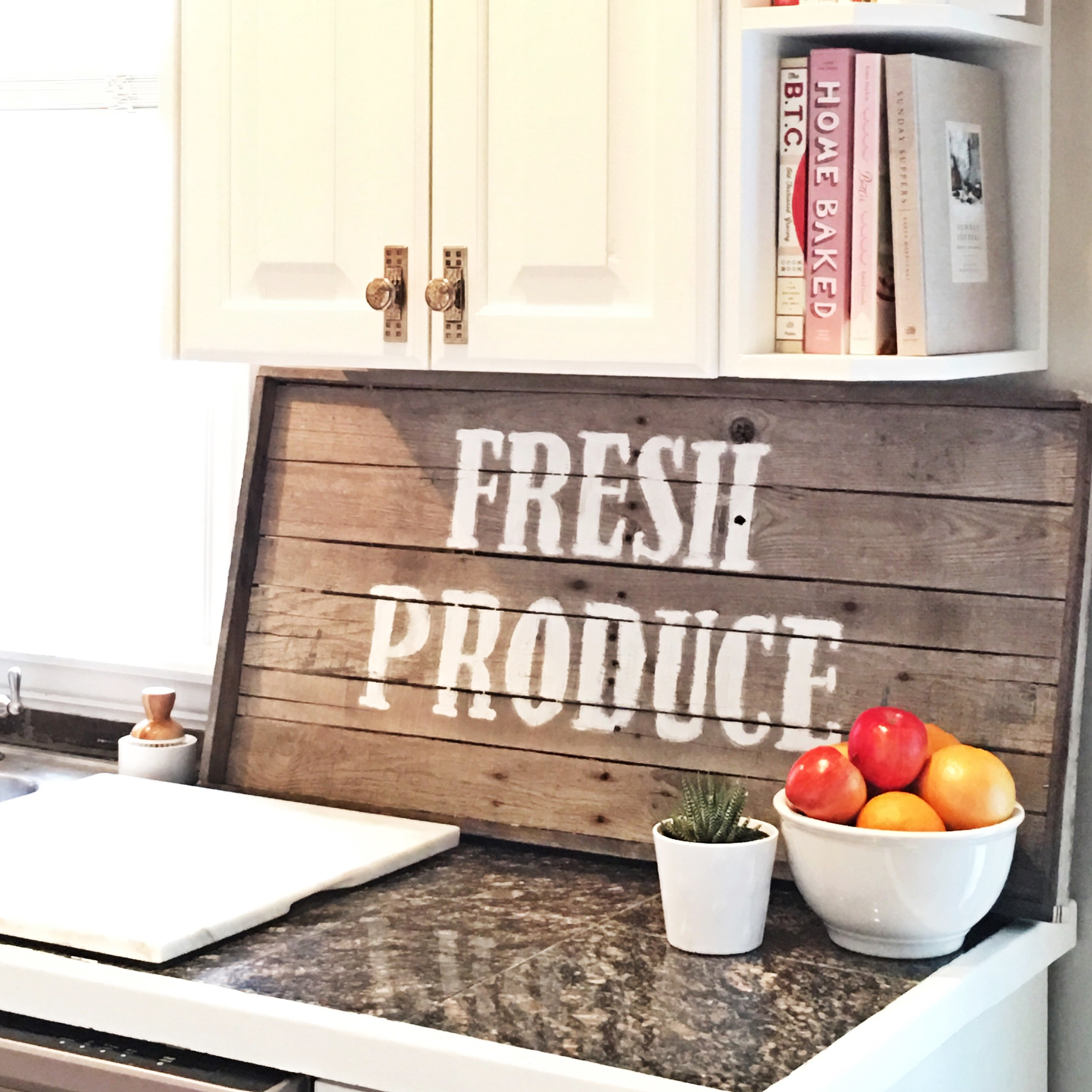 Countertop Signs Farmhouse Sign The Glitzy Pear