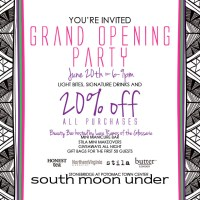 south moon under grand opening party