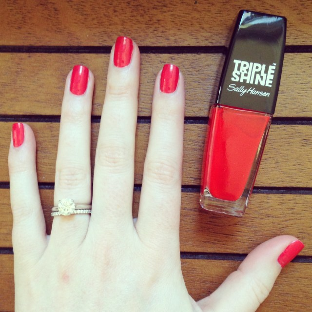 sally hansen red snapper