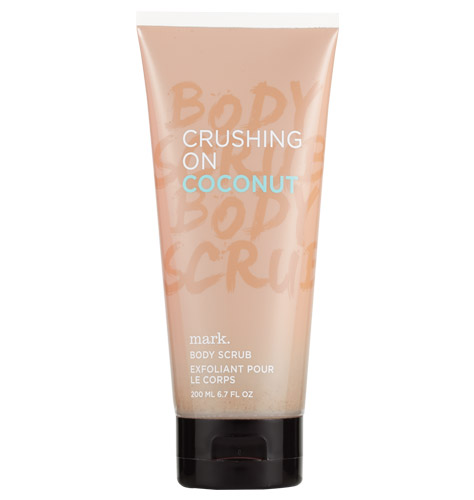 mark crushing on coconut body scrub