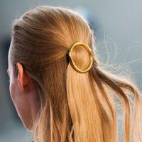 gold circle barrette
