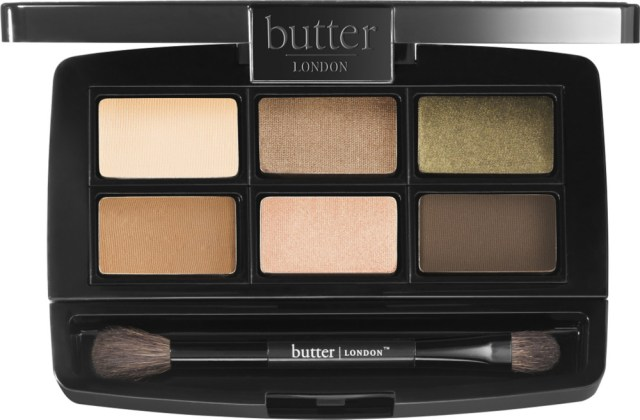 six eyeshadows in neutral tones from butter london