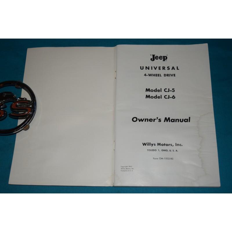 Original 1963 Willys CJ-5 / CJ-6 Jeep Owners manual