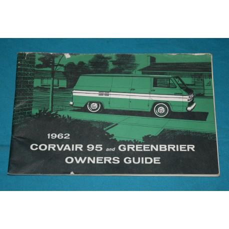 Original 1962 Chevrolet Greenbrier / Corvair 95 owners manual