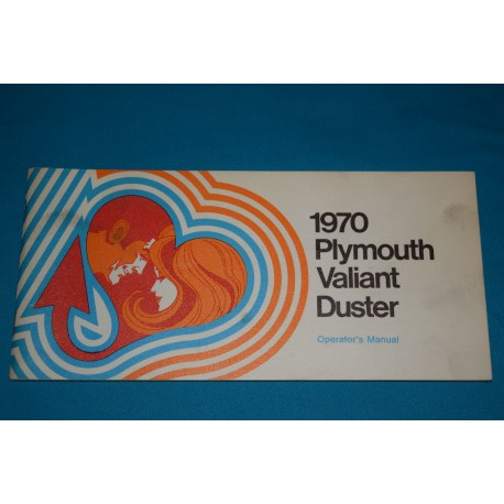 Original 1970 Plymouth Duster owners manual