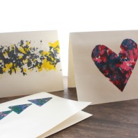 DIY Melted Crayon Cards for Mother's Day