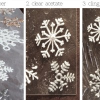 DIY Snowflake Window Clings (plus tips and the best method)