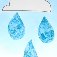 Crafts for Kids : Raindrop Suncatchers