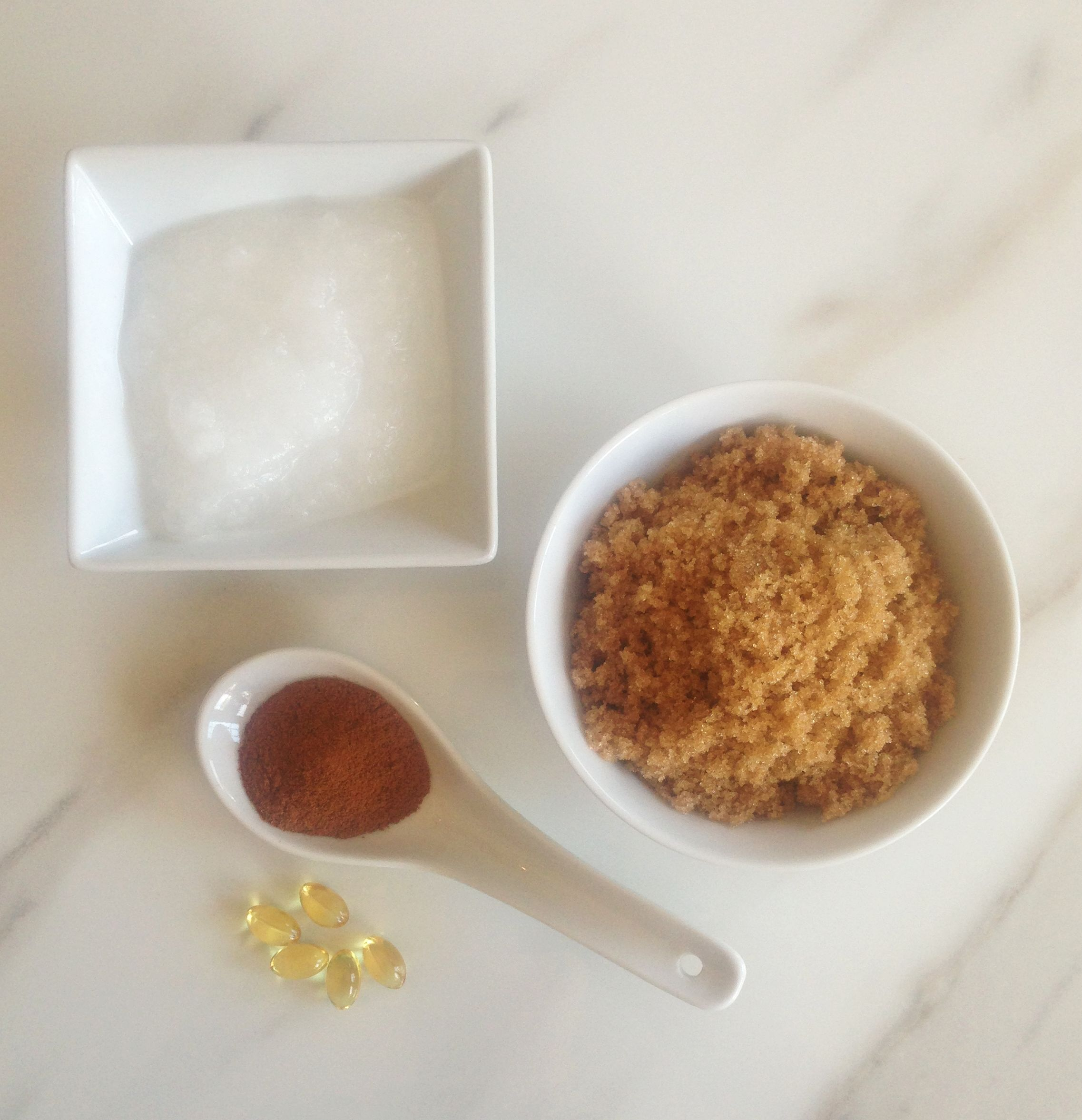 Homemade Body Scrub With Coconut Oil And Brown Sugar