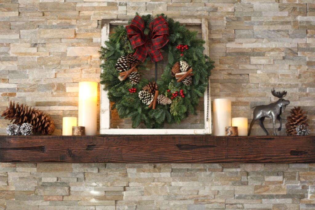 Rustic Fireplace Decor