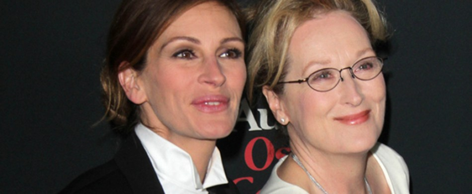 Julia Roberts and Meryl Streep at Osage County Premiere
