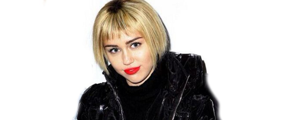 Miley Cyrus wears bob hairstyle wig