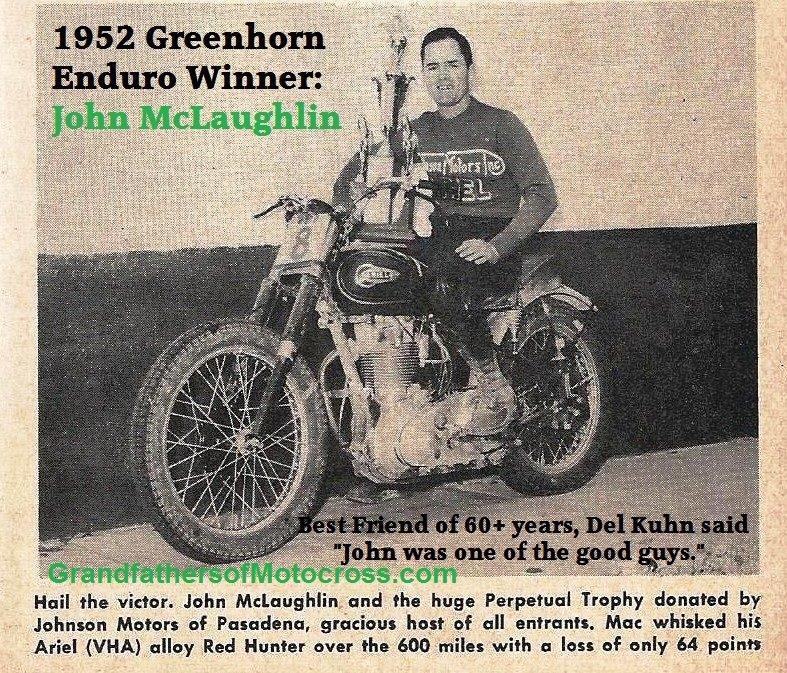 1952 Greenhorn Enduro | The Grandfathers of Motocross