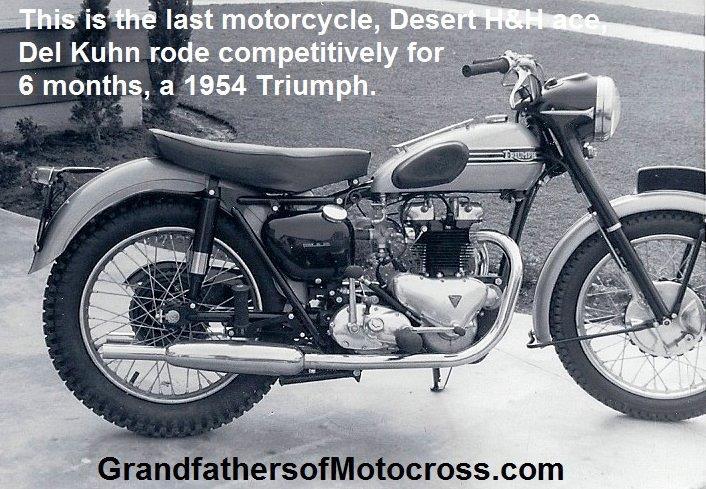 1954 A4 Del S Last Racing Mc Triumph Rode 1 Yr Johnson