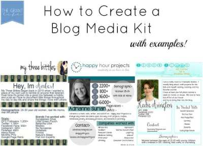 How to Make a Blog Media Kit - The Grant Life