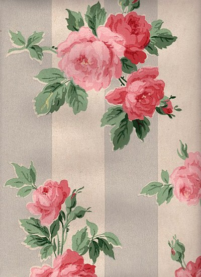 12 Vintage Wallpapers - Cabbage Roses and More - The Graphics Fairy