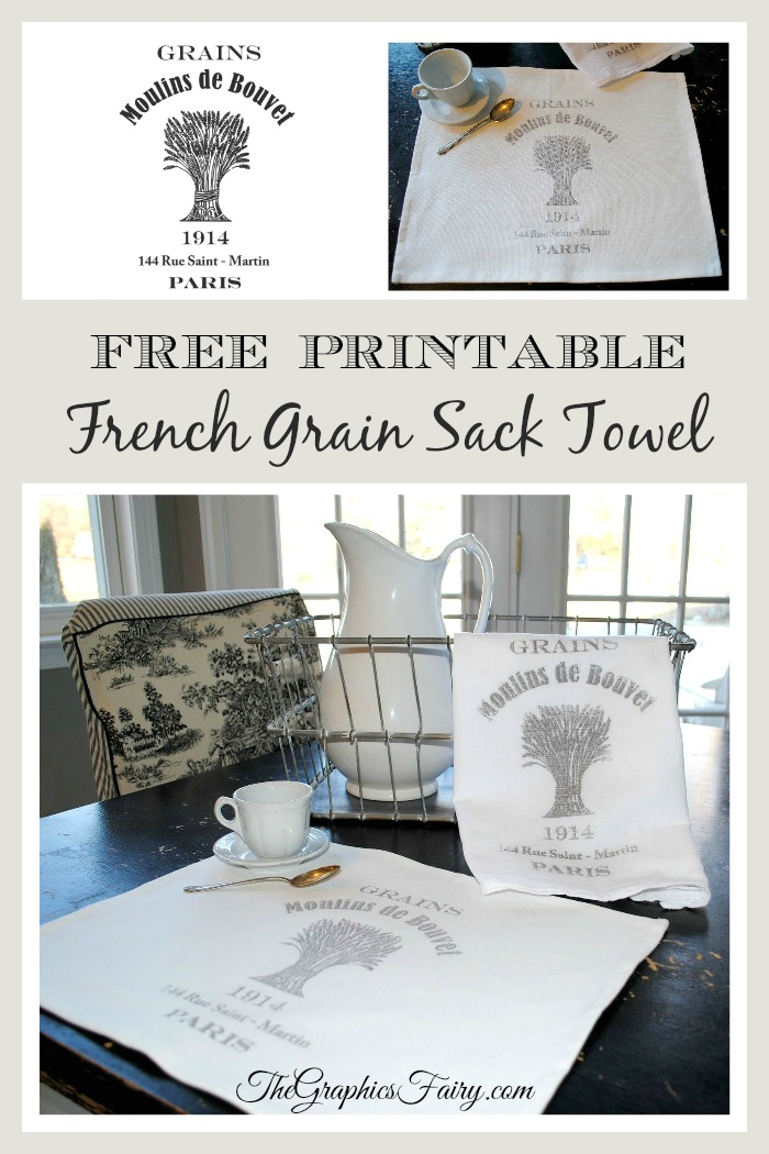 Crafty Project  Printable - French Grain Sack Towel - The Graphics
